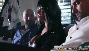 Naughty bitch Allison Moore tries a big fat cock!