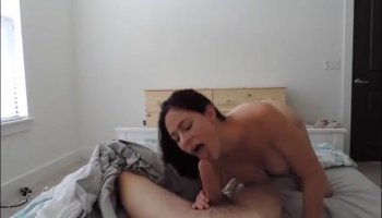 Cute Asian vixen has passionate fuck session with bald stud