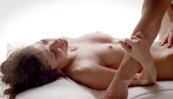 Lustful stud inserts erect cock into wet muff