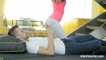Pervs Fuck Asian Coed in Empty Factory!